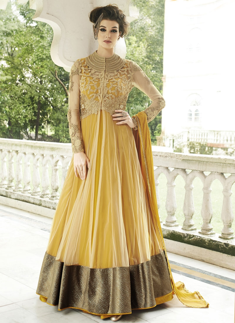 Talismanic Patch Border Work Floor Length Designer Salwar Suit