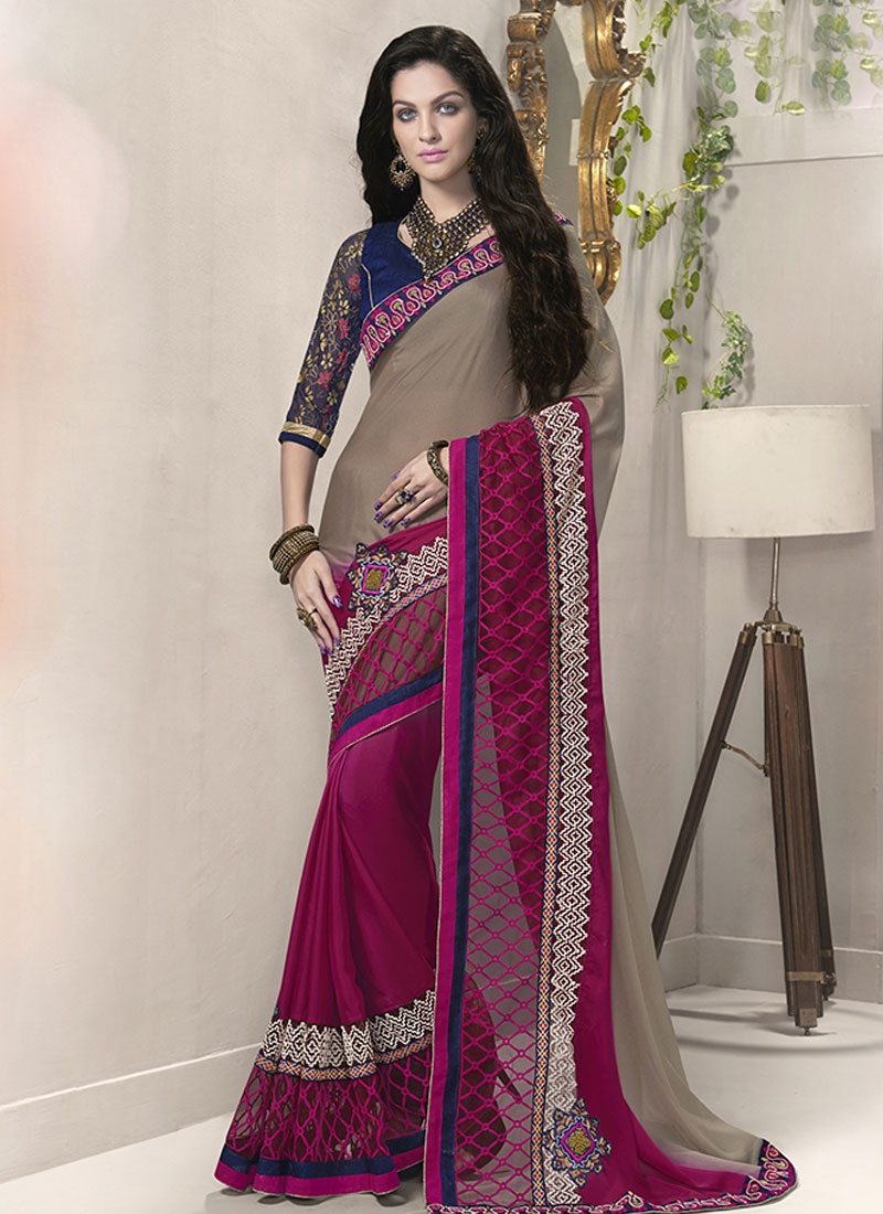 Talismanic Patch Border Work Party Wear Saree