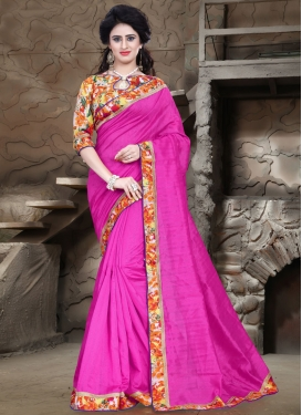 Talismanic Rose Pink Color Casual Saree
