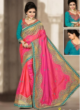 Talismanic Silk Designer Contemporary Style Saree For Ceremonial