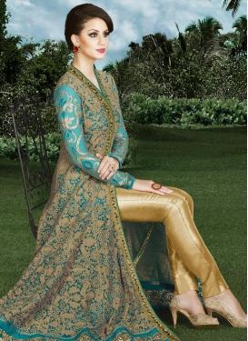Tantalizing Art Silk Designer Pant Style Suit