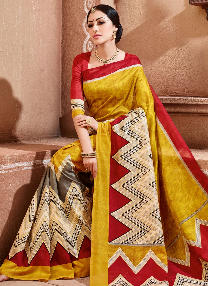 Tantalizing Art Silk Printed Casual Saree