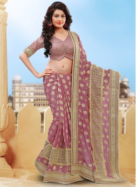 Tantalizing Beads And Resham Work Viscose Designer Saree