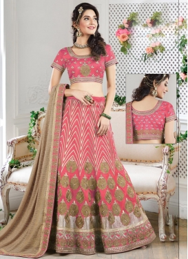 Tantalizing Beads Work Raw Silk A Line Lehenga Choli