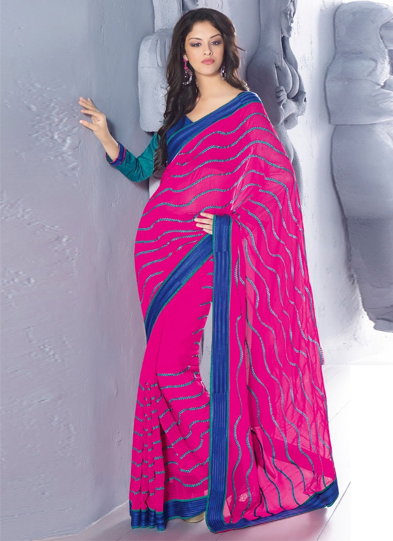 Tantalizing Chiffon Party Wear Saree
