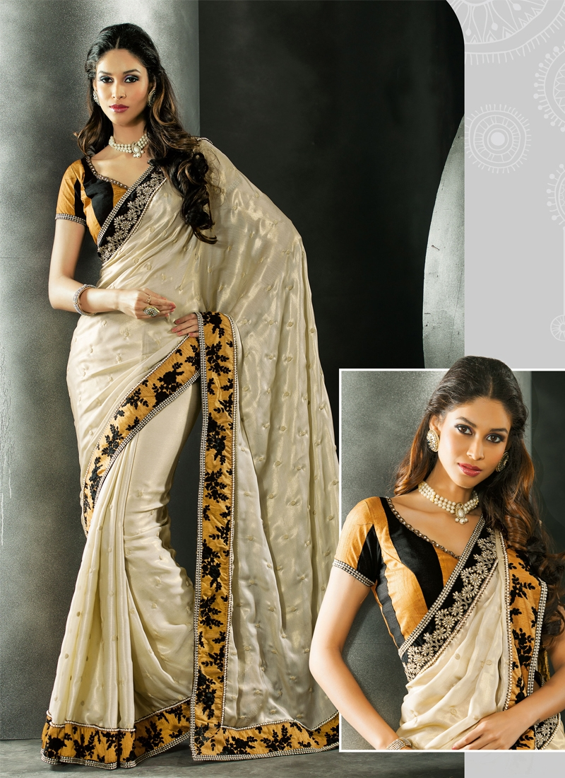 Tantalizing Stone Work Georgette Party Wear Saree