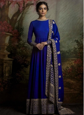 Tempting Banglori Silk Floor Length Anarkali Suit For Ceremonial