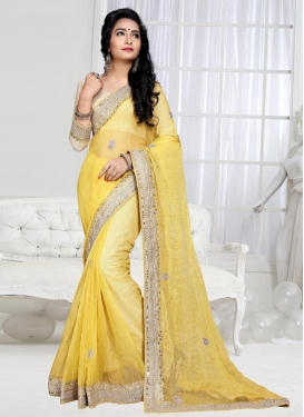 Tempting  Booti Work Trendy Saree