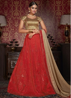 Tempting  Crystal Work Trendy Lehenga Choli