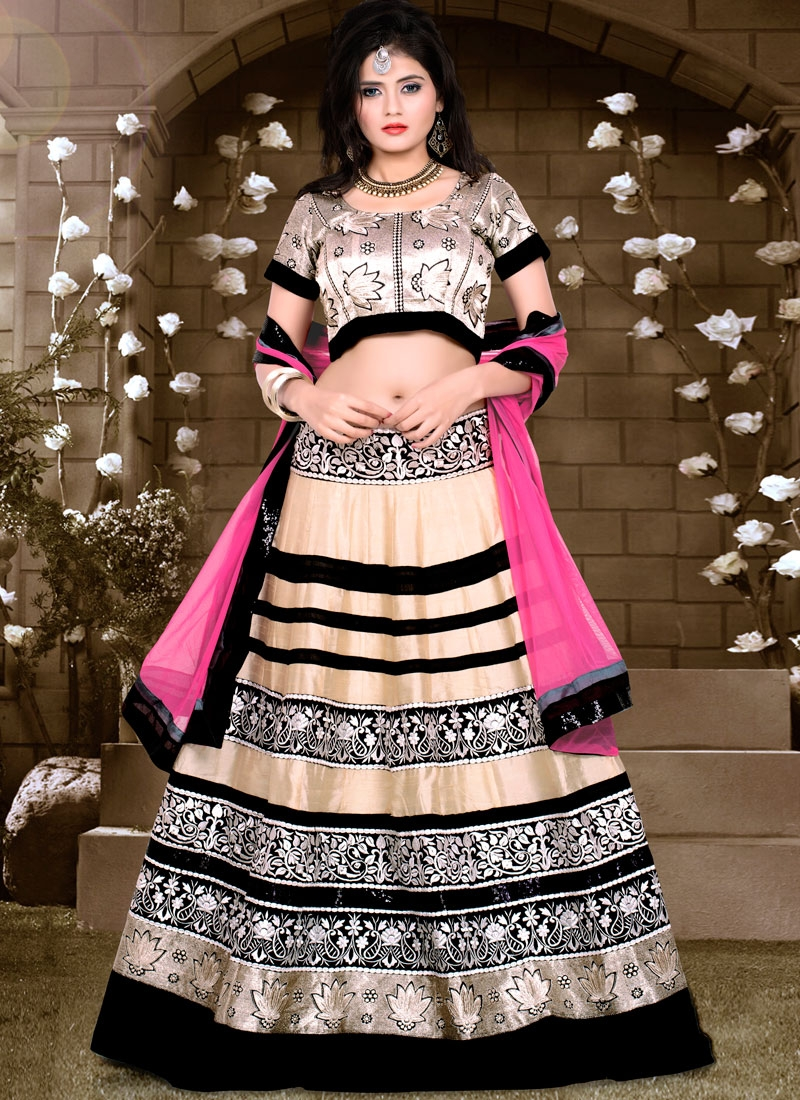 Tempting Embroidery And Sequins Work Designer Lehenga Choli