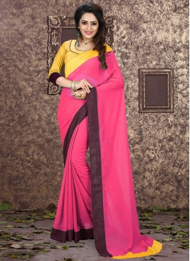 Tempting Faux Georgette Stone Work Casual Saree