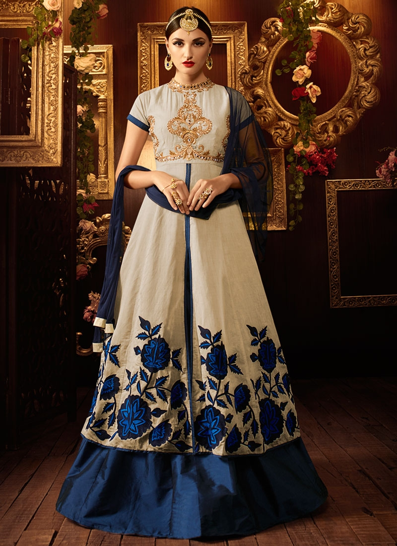 Tempting Khadi And Silk Kameez Style Designer Lehenga Choli