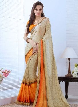 Tempting Lace Work Party Wear Saree