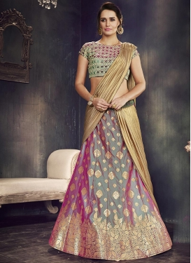 Thread Work A - Line Lehenga For Festival