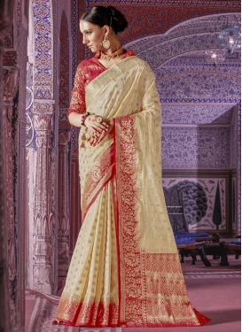 Thread Work  Art Silk Contemporary Saree