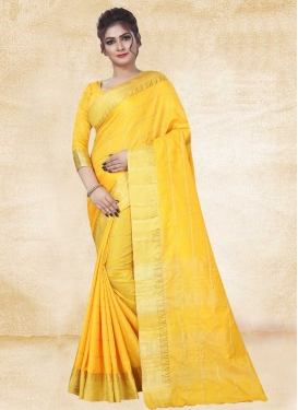 Thread Work Art Silk Designer Contemporary Saree For Casual
