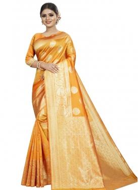 Thread Work Art Silk Designer Traditional Saree