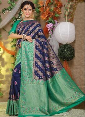 Thread Work Art Silk Traditional Designer Saree