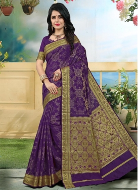 Thread Work Art Silk Traditional Saree