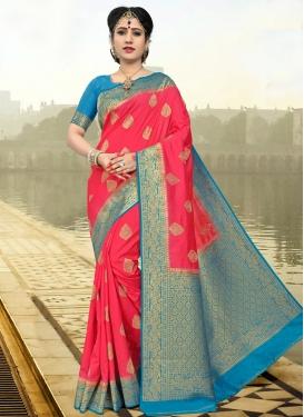 Thread Work Art Silk Trendy Classic Saree