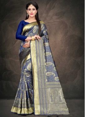 Thread Work Art Silk Trendy Classic Saree For Ceremonial
