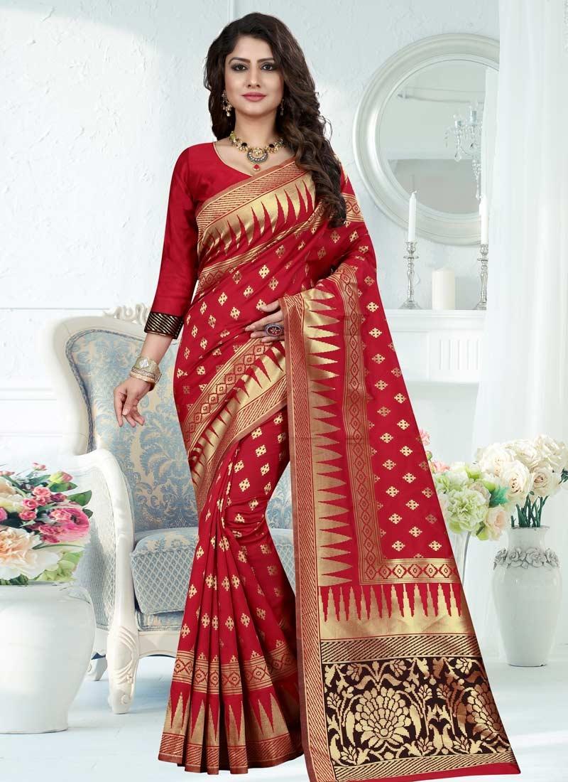 Thread Work Banarasi Silk Classic Saree