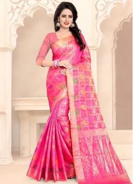 Thread Work Banarasi Silk Contemporary Saree