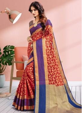 Thread Work Banarasi Silk Designer Traditional Saree