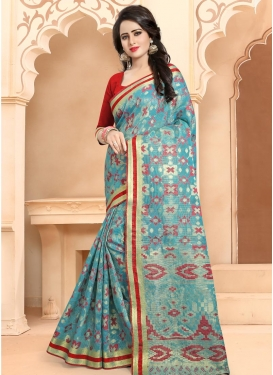 Thread Work Banarasi Silk Traditional Saree