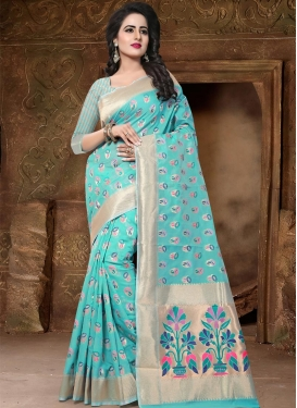 Thread Work  Banarasi Silk Trendy Classic Saree