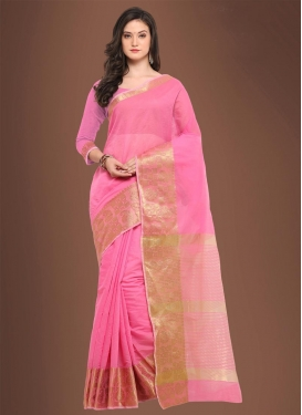 Thread Work Chanderi Cotton Contemporary Style Saree