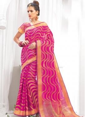 Thread Work  Chanderi Cotton Trendy Classic Saree