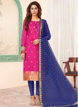 Thread Work Churidar Salwar Suit