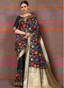 Thread Work Contemporary Saree