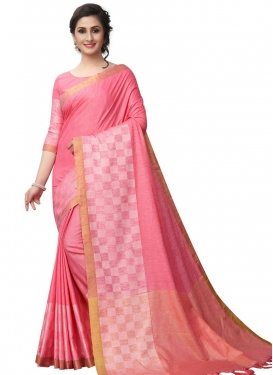 Thread Work Contemporary Style Saree For Casual