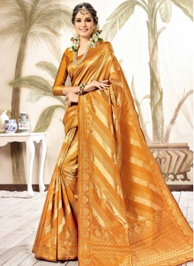 Thread Work Contemporary Style Saree For Festival