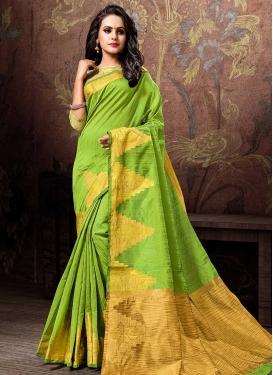 Thread Work Cotton Silk Contemporary Saree