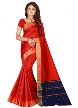 Thread Work Cotton Silk Designer Contemporary Saree