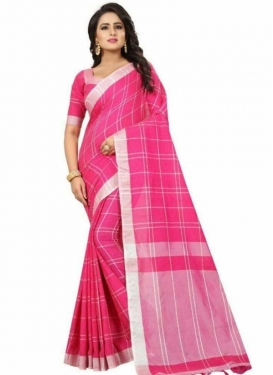Thread Work Cotton Silk Designer Contemporary Style Saree