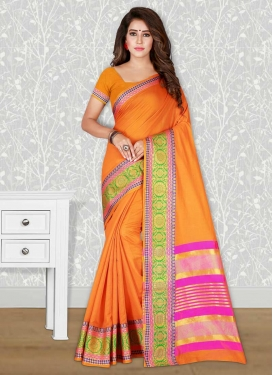 Thread Work Cotton Silk Trendy Classic Saree