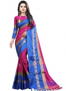 Thread Work Cotton Silk Trendy Classic Saree