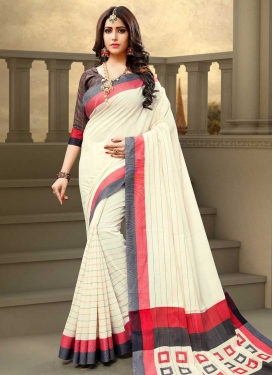 Thread Work Designer Contemporary Saree