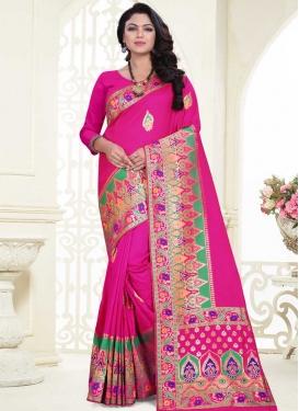 Thread Work Designer Contemporary Saree For Party