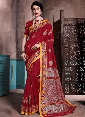 Thread Work Designer Contemporary Style Saree For Casual