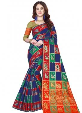 Thread Work Kanjivaram Silk Classic Saree