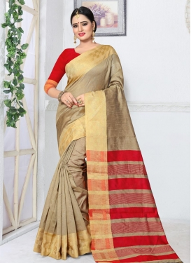 Thread Work Kanjivaram Silk Classic Saree For Ceremonial