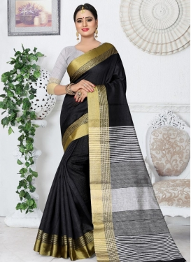 Thread Work Kanjivaram Silk Contemporary Saree For Ceremonial