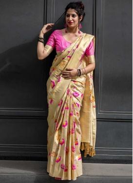 Thread Work Kanjivaram Silk Trendy Classic Saree