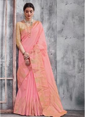 Thread Work Khadi Silk Traditional Saree