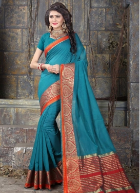 Thread Work Khadi Silk Trendy Classic Saree